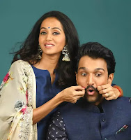 Pratik gandhi and his wife Bhamini Oza