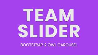 Team Slider using Bootstrap & Owl Carousel