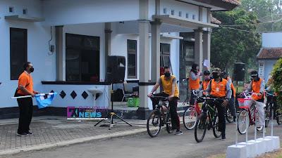 Peringati HAORNAS 2020, PGRI Kecamatan Pituruh Gelar Gowes Bareng