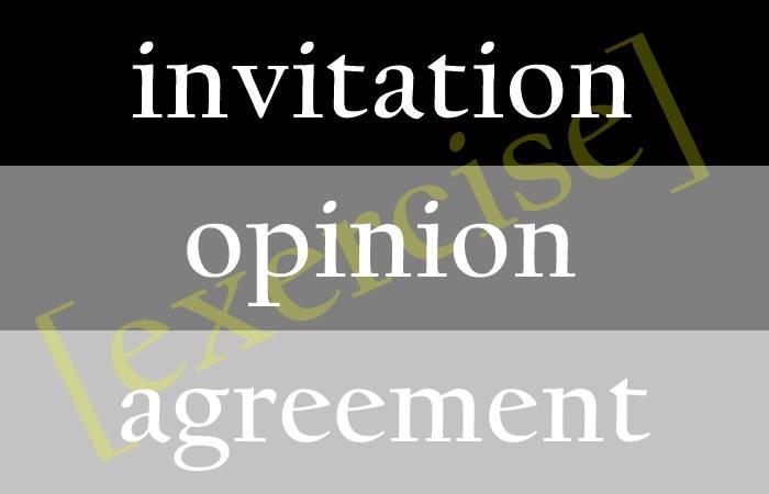 Paket Soal Materi Invitation Opinion Agreement And