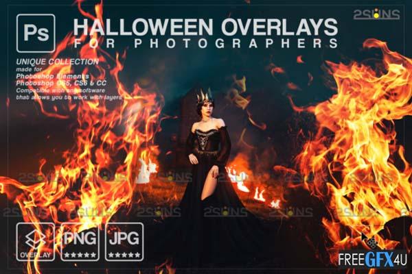 Photoshop Fire Overlay Halloween