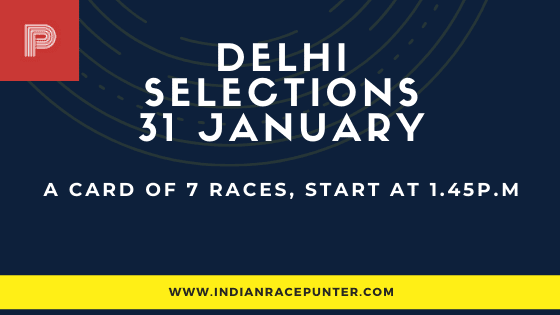 Delhi Race Selections 31 January, India Race Tips by indianracepunter,  Kolkata Race Selections by indianracepunter