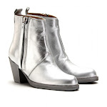 Acne Pistol Booties Silver.