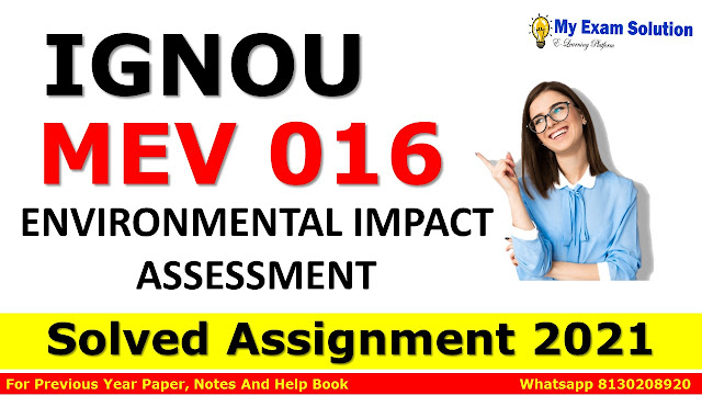 MEV 016 Solved Assignment 2021-22