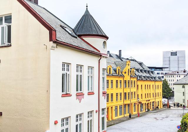 Art Nouveau architecture in Alesund Norway
