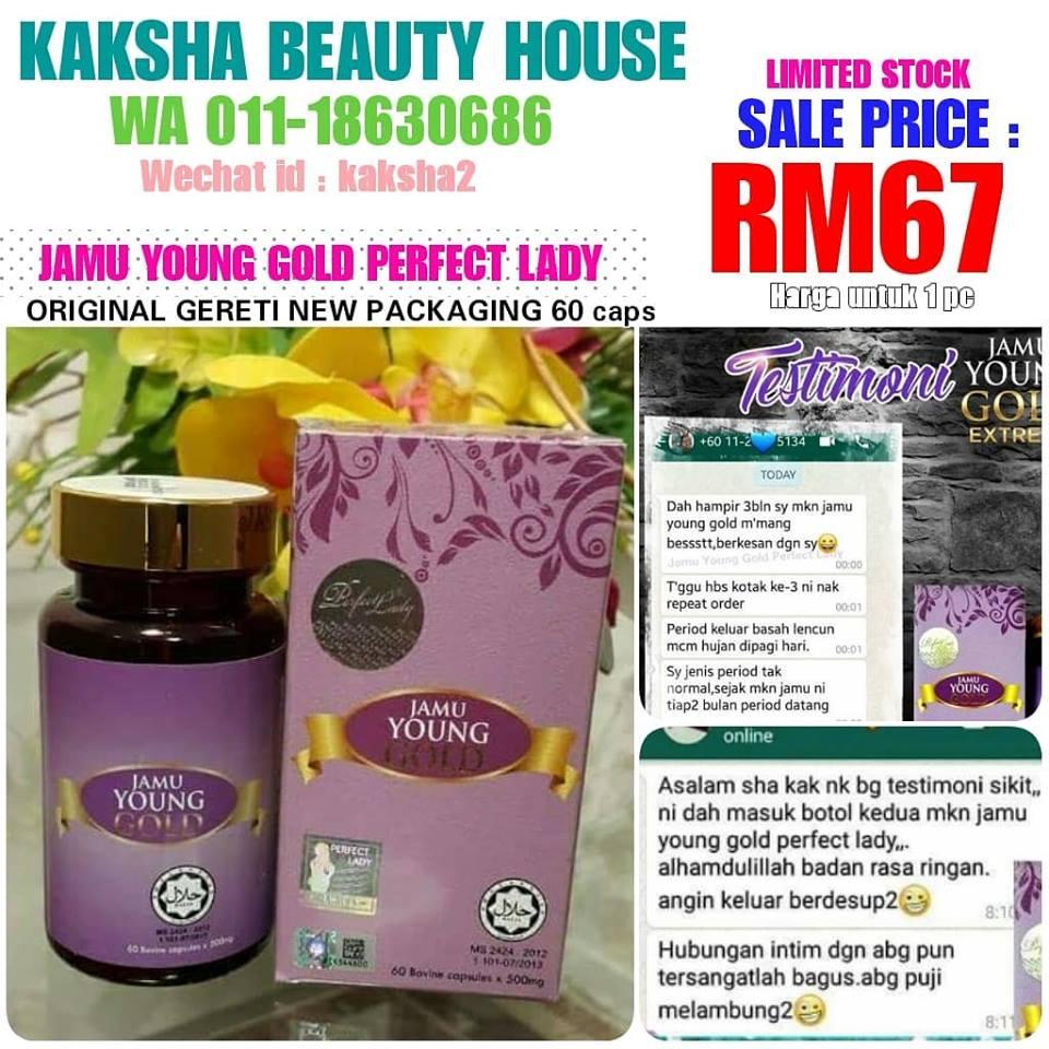 Jamu Young Gold Perfect Lady Produk Lulus Kkm Dan Halal Kak Sha Beauty Corner
