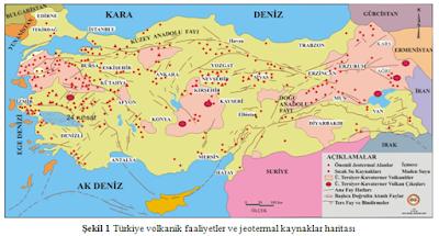 Türkiye'nin jeotermal haritası