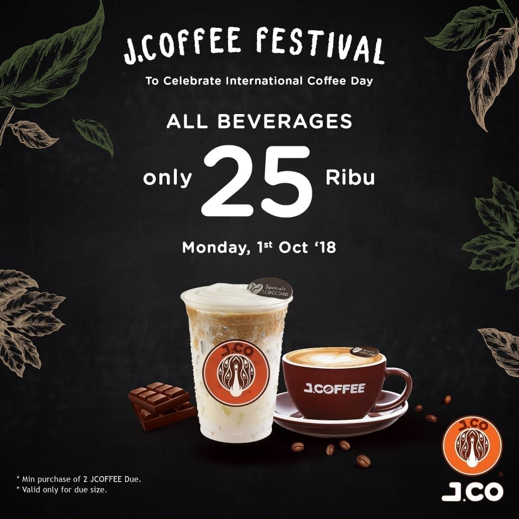 JCO - Promo Semua Cuma 25 Ribu J.Cofee Festival di Hari Kopi Internasional (HARI INI)