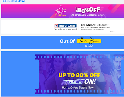 Flipkart latest Fashion Days offers today 2018