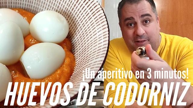 huevos de codorniz con salsas para aperitivo