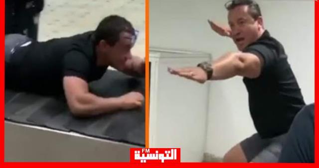 """سامي الفهري """"يلعب"""" في مطار تونس قرطاج (فيديو)"""