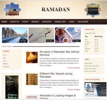Ramadhan Blogger Template