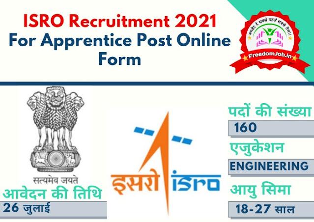 ISRO Recruitment 2021: for Apprentice Post Online Form