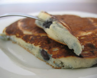 Panquecas com Blueberries