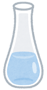 細長いデキャンタのイラスト(水)