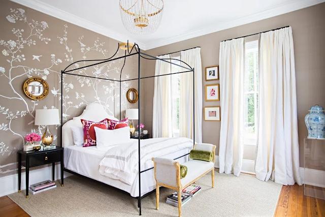 Phòng ngủ kiểu Hàn đậm chất hoàng gia