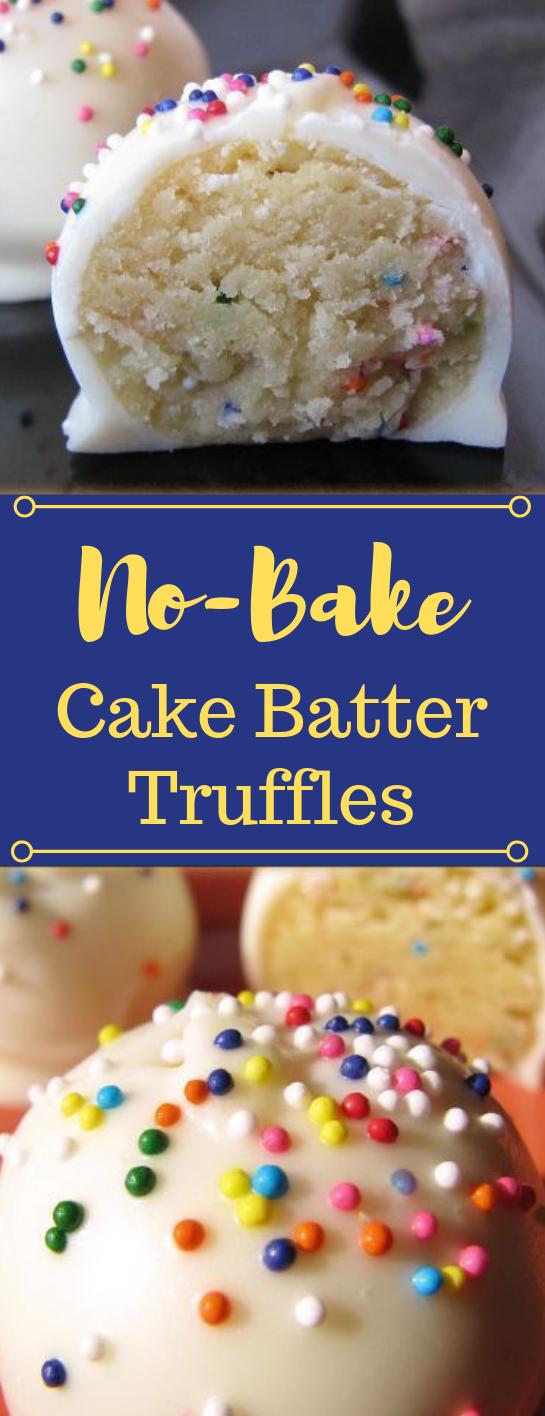 No-Bake Cake Batter Truffles #cakes #desserts #pie #snack #rainbowcakes