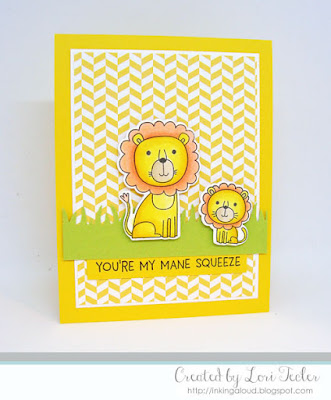 You're My Mane Squeeze card-designed by Lori Tecler/Inking Aloud-stamps and dies from My Favorite Things
