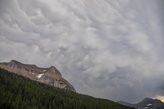 Mammatus clouds over Going to the Sun Mountain