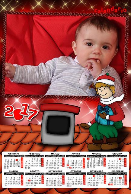 Calendario 2017 per bambini, natalizio