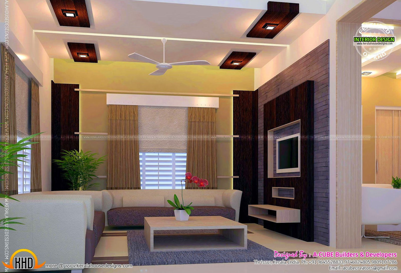 Beautiful Home Interior Designs Kerala Home Design Floor Plans - Kerala Home Interior Designs