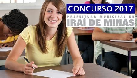 Concurso Prefeitura de Iraí de Minas 2017