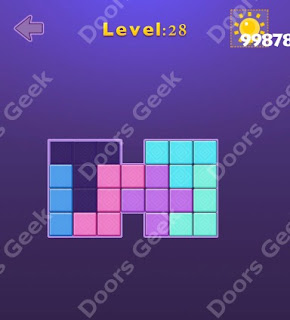 Cheats, Solutions, Walkthrough for Move Blocks Easy Level 28