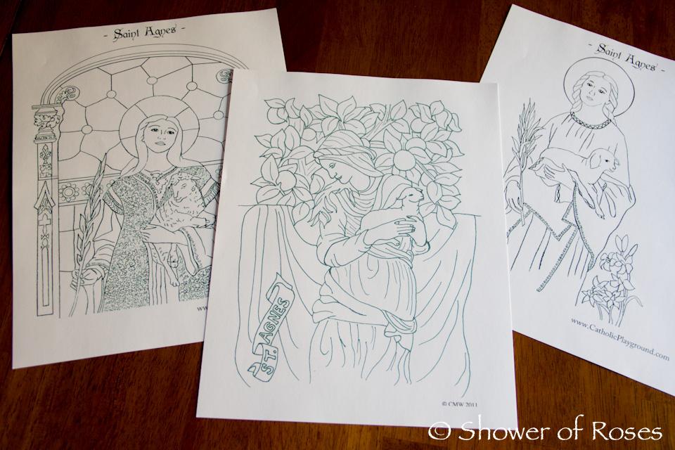 Shower of Roses: Celebrating the Saints :: St. Agnes of Rome