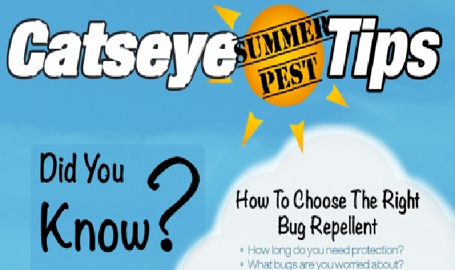 Catseye Summer Pest Tips #infographic