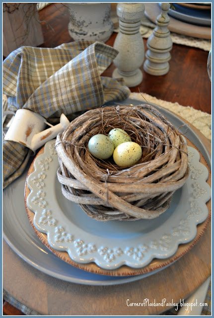 Nesting, Early Spring Tablescape