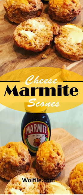 Cheese & Marmite Scones Recipe #Cookies #Cake