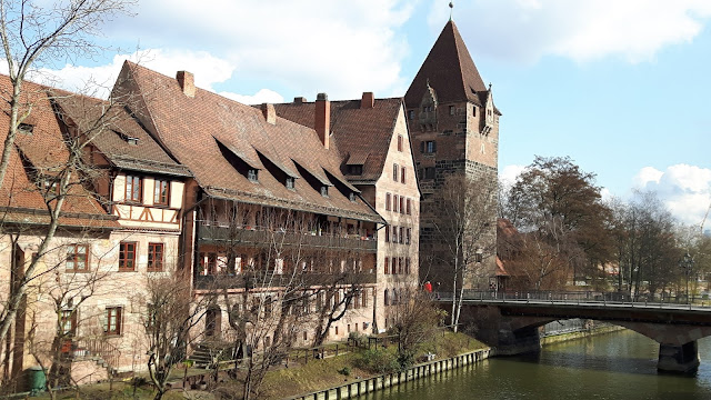 Houses by the river in Nuremberg