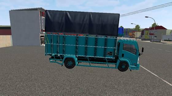 mod bussid truck isuzu nmr71 mak'e