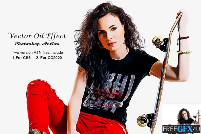 Vector Oil Effect PS Action
