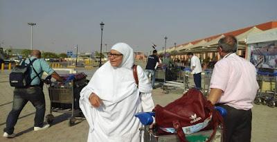 حجاج بيت الله الحرام فى المطار