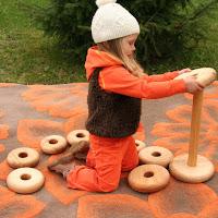 Lotes Toys Wooden Giant Pyramid, round