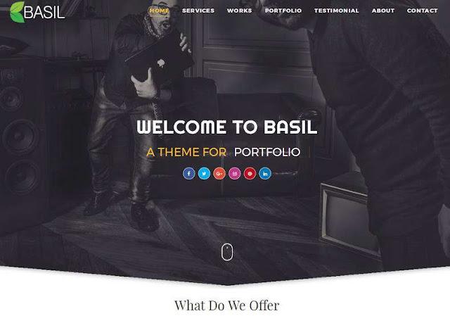 Basil Portfolio Blogger Theme