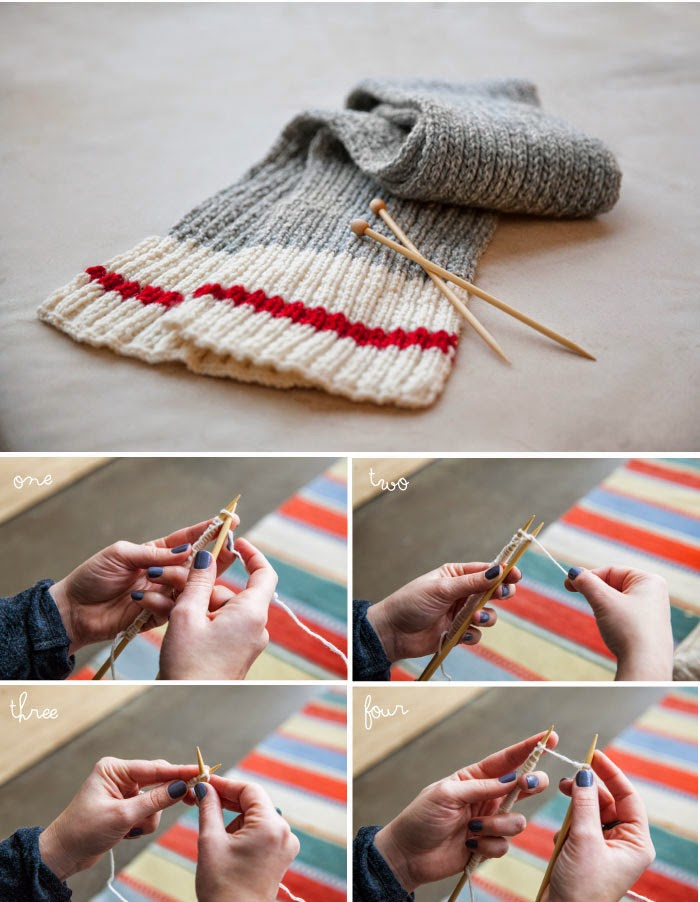 Knitting Patterns For Beginners Step By Step : Knit a Scarf! A Beginners Guide to Knitting Poppytalk