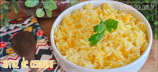 como fazer arroz de cenoura