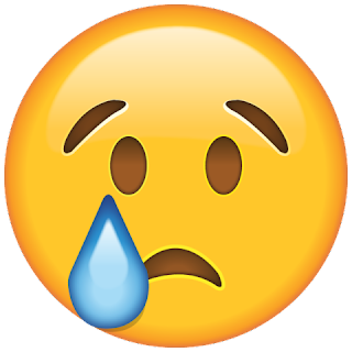 WhatsApp Crying Face Smiley
