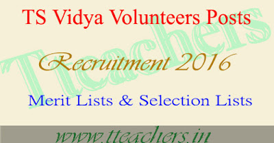 TS vidya volunteers mandal wise selection List vvs merit lists 2016-17