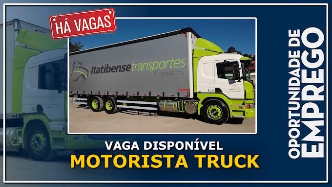 Transportadora Itatibense abre vagas para Motorista Truck