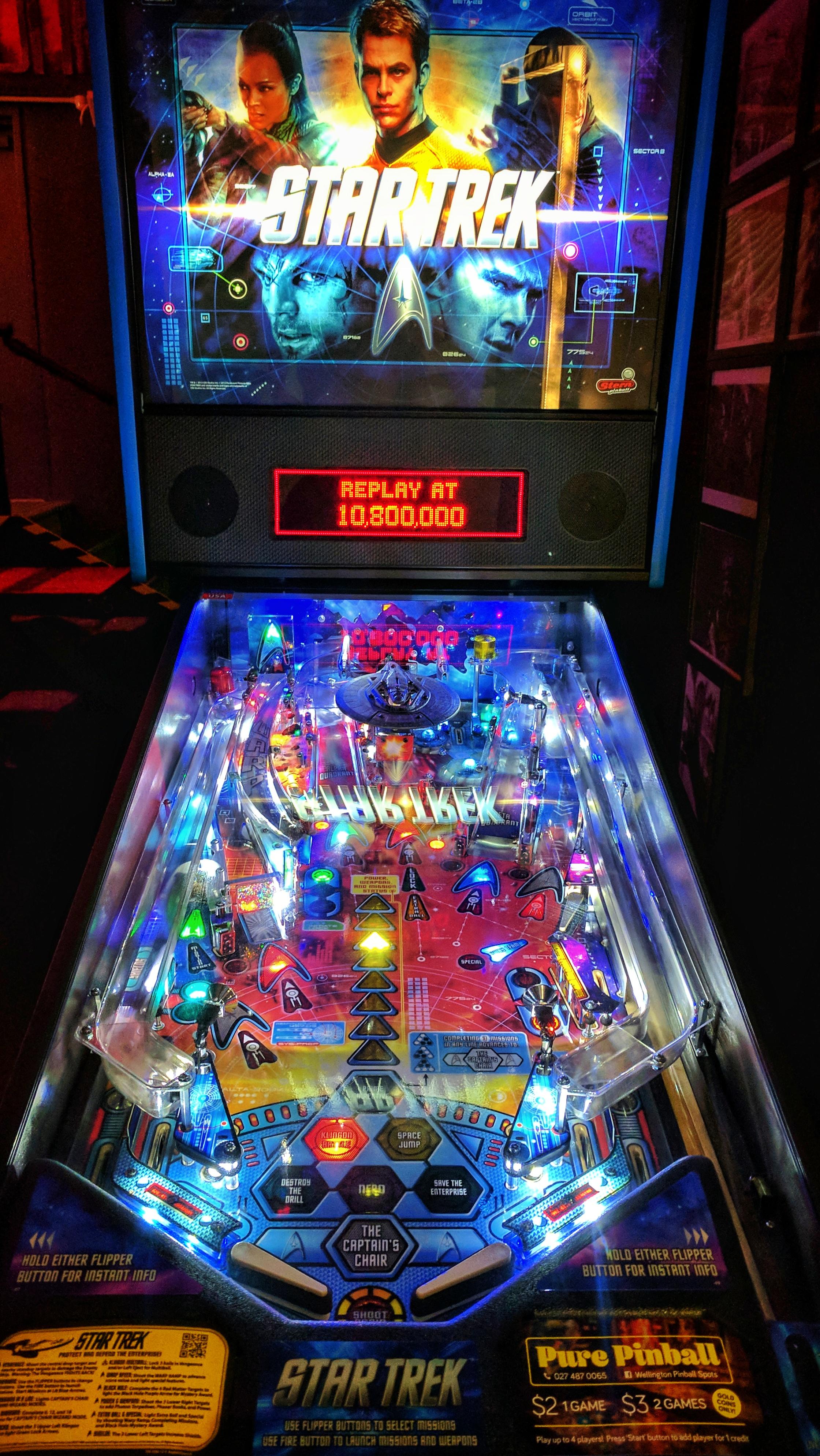 Star Trek pinball game