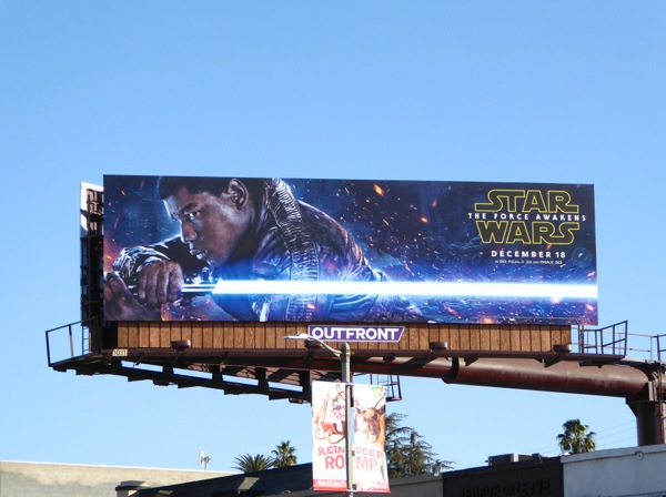 Finn Star Wars Force Awakens movie billboard