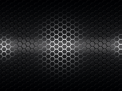 Silver hexagonal honeycomb background