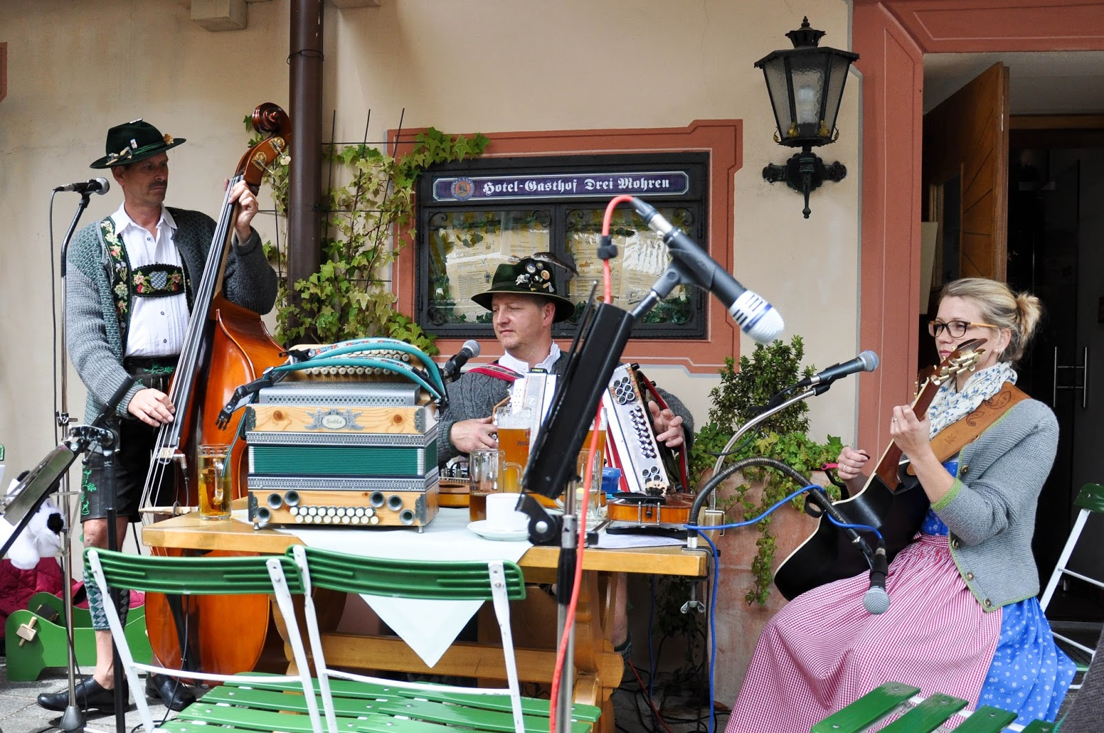 Bavarian folk-band, Garmisch-Parternkirchen, Bavaria, Germany