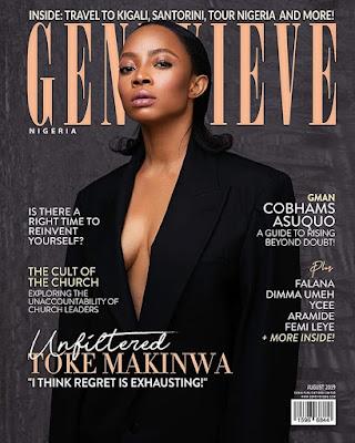 Toke Makinwa Genevieve Magazine cover