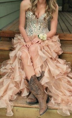 Country Prom Dresses Cowboy Boots Shoes Wedding,Corset Halter Top Wedding Dress