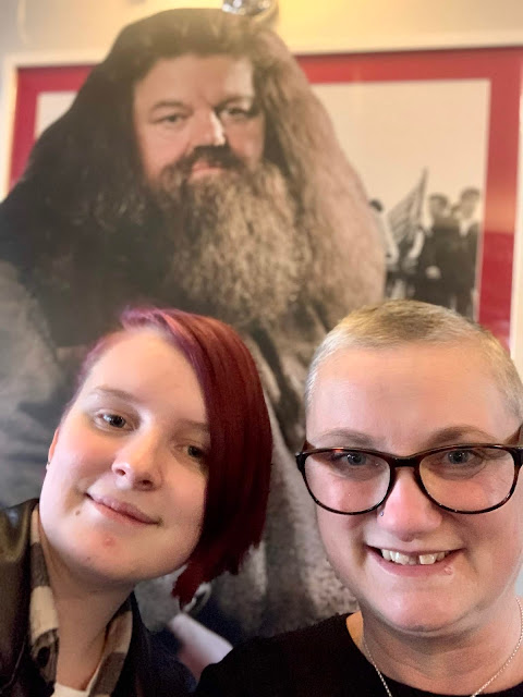 madmumof7, daughter and Hagrid at The Caxton Arms, Brighton