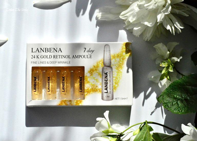 LANBENA 24K Gold Retinol Ampoule - Przeciwzmarszczkowe serum w ampułkach